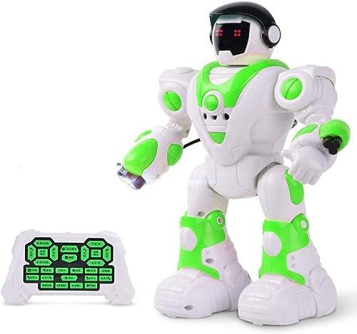 ZDY Robot Enfant Jouets éducatifs,avec électroniques Télécomhommedé Lumières Musique Danse Gesture Sensing Apprendre Marcher Programmation éducatif Charge USB-29  11  34cm,blanc