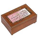 Cottage Garden Mother's Love Gift of Her Spirit Woodgrain Embossed Jewelry Music Box Plays Wonderful World