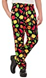 Mens Peppers Print Chef Pant(X-Large)