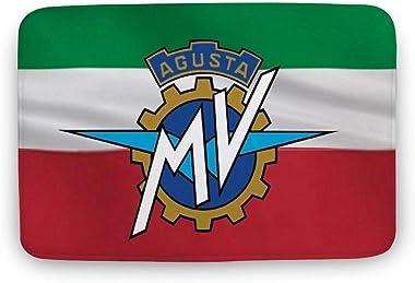"Soft Indoor Doormat, Italian Flag Mv Agusta Door Mats Rug for Bathroom Kitchen Bedroom Entryway Floor Mats,Funny Bath Mat,16"""