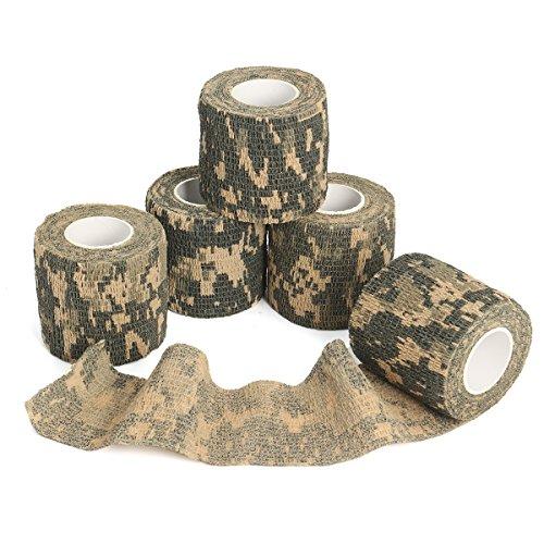6Rolle /Set Outdoor Camouflage Klebeband OUTERDO selbsthaftende nichtgewebte und teleskopische...