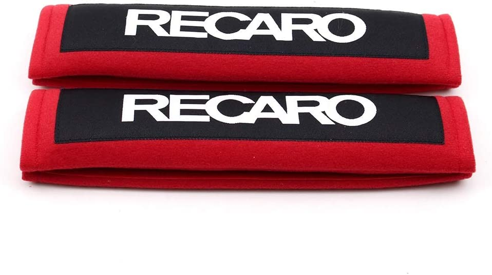 Color Name : Black 1Pair Comfort Harness Pads UNDKI Car Seat Belt Cover Compatible with Recaro Red Black Cotton Shoulder Racing Car Seat Belt Strap Padding Cover