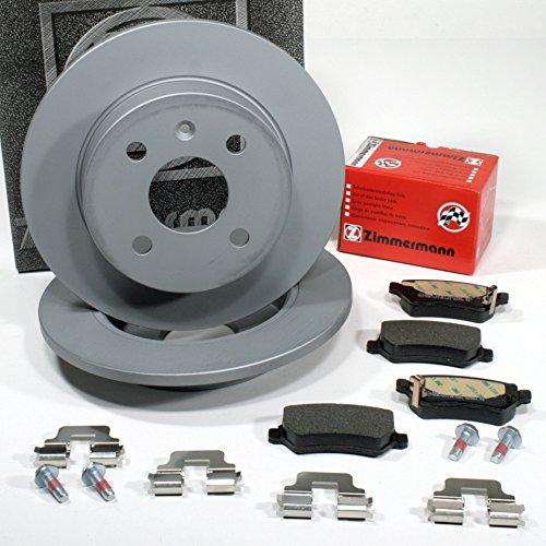 Zimmermann Bremsscheiben 4-Loch Coat Z/Bremsen + Bremsbeläge für hinten/die Hinterachse