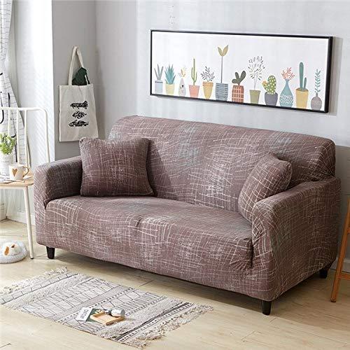 WXQY Funda de sofá elástica Funda de sofá elástica elástica Fractal para Sala de Estar Funda de sofá en Forma de L Funda de sillón, Funda de sofá A10 4 plazas