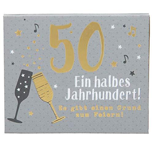 Gewenste geluidsboxen cijferverjaardagen, 1 stuk - 50 een halve eeuw! - voor de 50e verjaardag