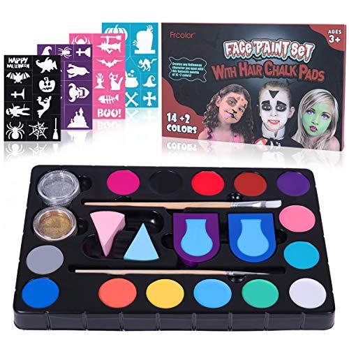 Frcolor Face Paint Body Paint Kinderschminke Set Körperfarbe Gesichtsfarbe Professional Face Painting Halloween Party Makeup Set - Wasserbasiert Und Ungiftig
