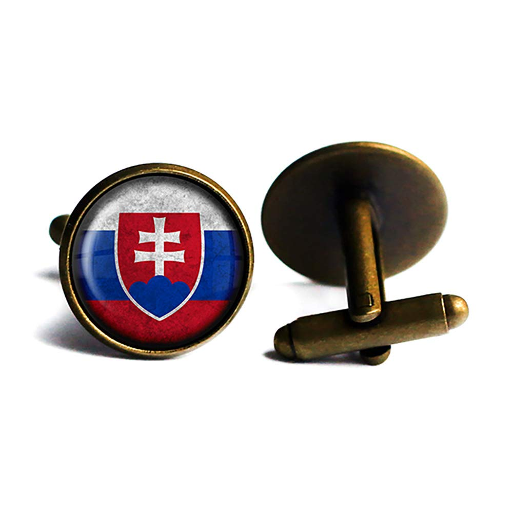 Slovakia Elegant Slovakian Flag Antique 2021 spring and summer new Bronze Cufflinks