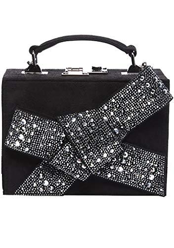 Betsey Johnson Razzle Dazzle Box-Tasche, Schwarz (schwarz/silber), Einheitsgröße
