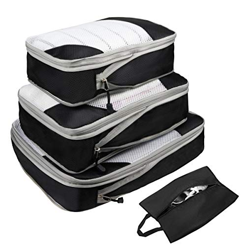 ABC Packing Cubes 4 Set (Black)