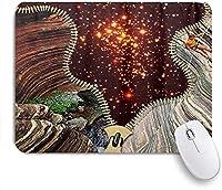 ECOMAOMI 可愛いマウスパッド 登山危険なジッパースター 滑り止めゴムバッキングマウスパッドノートブックコンピュータマウスマット