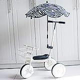 SHARESUN Triciclo para niños con Paraguas, Trineo para niños con cesto y Manillar de los Padres, Bicicleta de 3 Ruedas para niños de 2 a 5 años,White
