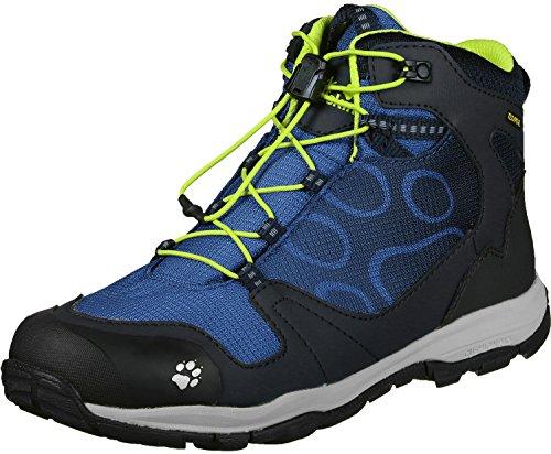 Jack Wolfskin AKKA TEXAPORE MID B Wasserdicht, Jungen Trekking- & Wanderstiefel, Blau (vibrant blue), 37 EU (4 UK)