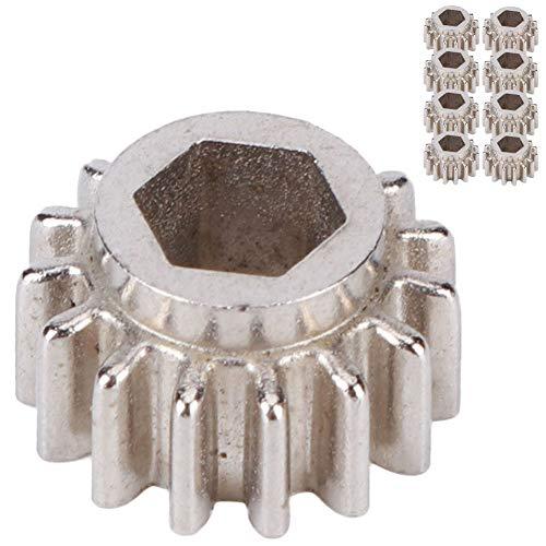 Engranajes para afinadores de guitarra, Afinadores de guitarra Open-Gear Gears Clavijas de montaje con bloqueo hexagonal Herramienta de instrumentos musicales(Plata 12 piezas)