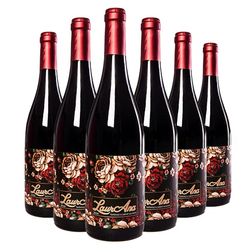 LaurAna - Vino Tinto Tempranillo & Cabernet Sauvignon- Vino de la Tierra de Castilla- 6 botellas x 750 ml