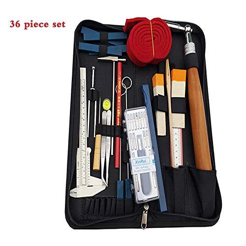 ZHXY Piano Tuning Kit 36 Stück Professionelle Piano Tuner Werkzeuge Set Schraubenschlüssel Hammer Mute Gabel Schraubendreher Riemen Pinzette Clip
