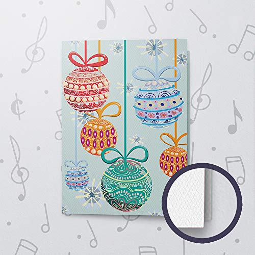 Singing Christmas Card Made With Felt Paper | Musical Christmas Holiday Card, Christmas Ornament Card, Voice Recordable Christmas Card 10603 (120sec Recordable)
