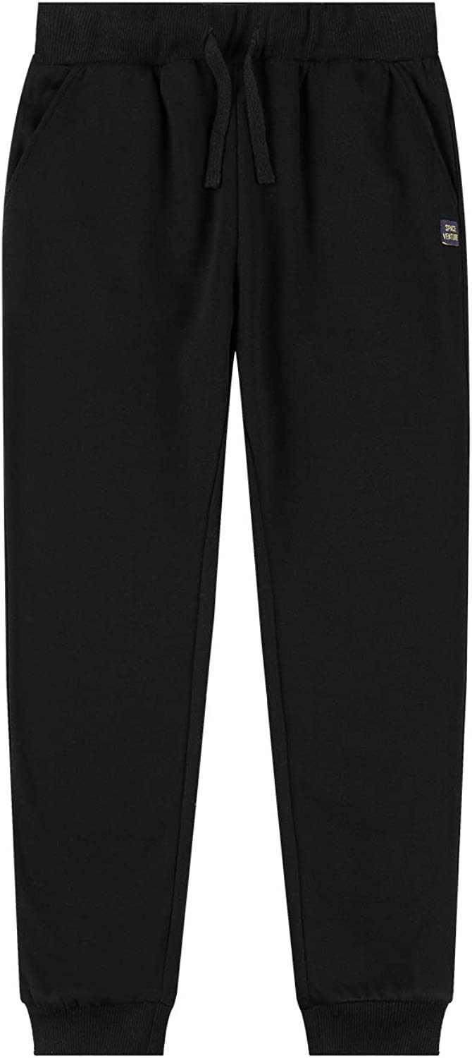 SPACE VENTURE Kids Soft Brushed Fleece Sweatpants Casual Joggers Athletic Pants for Boys or Girls (3-12Y): Clothing
