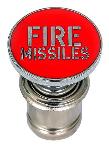 Fire Missiles Button Car Cigarette Lighter Replacement 12V Accessory Push Button Fits Most Automotive Vehicles (Red)