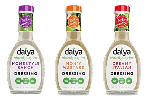Daiya Salad Dressing Variety Pack, Dairy Free :: Homestyle Ranch, Hon'y Mustard, Creamy Italian :: Vegan, Gluten Free, Soy Free, Egg Free, Non GMO, 8.36 Oz. (3 Pack)