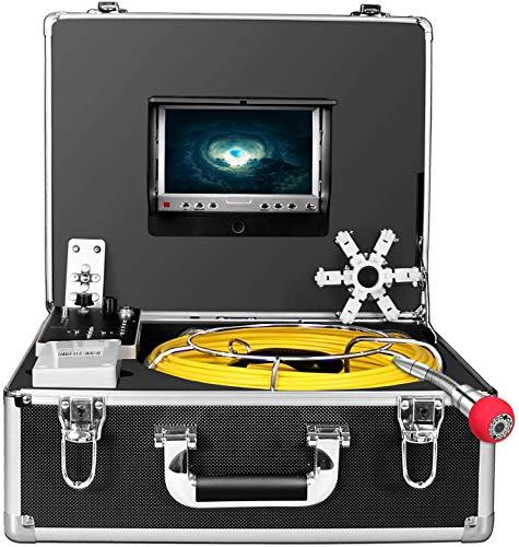Drenare Telecamera di Ispezione, Endoscopio industriale per tubi per fognatura con registratore DVR, Periscopio IP68 30M/100ft senza fili impermeabile con monitor LCD da 1000TVL(scheda SD da 8 GB)