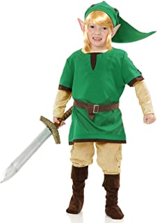 Charades Child's Elf Warrior Costume, Green, X-Large