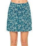 MAXMODA - Pantaloncini sportivi da donna, da tennis, hockey, golf, con tasche e jack per cuffie, gonna elasticizzata, antivento, colori assortiti Pat12 con custodia. XXL