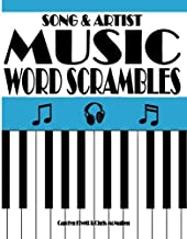 Song & Artist Music Word Scrambles: Unscramble the Letters to Form Popular Song Titles and Matching Singers or Bands