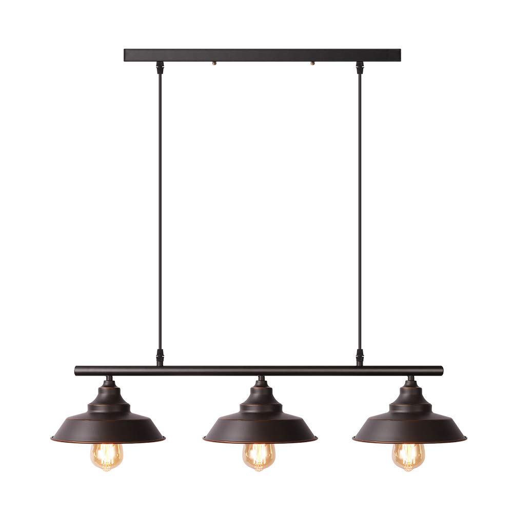 Black Pendant Lighting Kitchen Island Light Baking Paint Finish With Highlights Rustic Lighting Modern Industrial Chandelier Buy Online In India At Desertcart In Productid 148654351