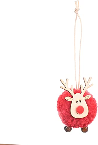 popular RiamxwR Christmas Elk Pendant Christmas Tree Pendant Family Party Holiday 2021 Decoration Plush Elk Pendants Christmas Home Decor online sale (Red) sale