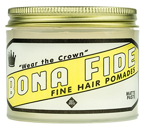 ボナファイドポマード(BONA FIDE POMADE) マットペースト メンズ 整髪料 ヘアスタイリング剤 水性 ヘアグリース ツヤなし ストロングホールド