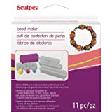 Sculpey Tools Round Bead Maker, 11 piece set, polymer oven-bake clay jewelry making tool, helps you make perfectly round beads in three sizes, great for all skill levels