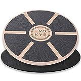 Tabla de equilibrio EVO KYE (redonda) con base antideslizante – Dispositivo de equilibrio de madera estable de alta calidad – Dispositivo deportivo óptimo para el hogar