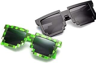 Pixel sunglasses Kids Party Favors Gamer Sunglasses 8-Bit 2 Piece UV400 Protection