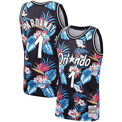 Orlando Magic ORL Basketball Trikot Sportswear Fan Weste Running Sport Basketball Ärmelloses T-Shirt Magic #1 Hardaway Flower Fashion Edition, 123, farbe, A-XL
