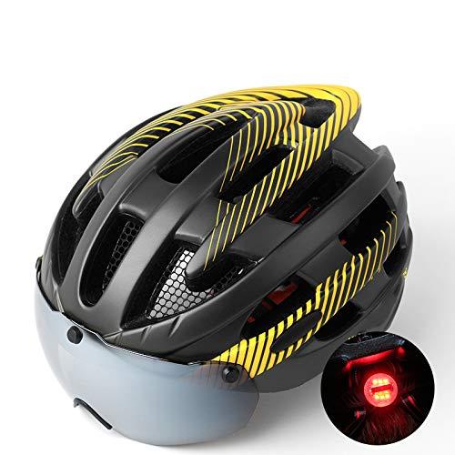 BOC Czz Fahrradhelm, Mountainbike Brille Gläser, Männer Und Frauen Rennrad Sicherheit Hut Fahrradausrüstung,E,Helm