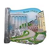 Weekinglo Souvenir Frigorífico Imán Roma Roma Italia 3D Resina Artesanía Hecha A Mano Turista Recorrido Recuerdo de la Ciudad Carta de Refrigerador Etiqueta