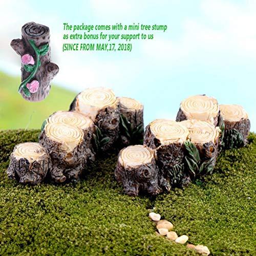 Bestim incuk, Baumstümpfe für Miniatur-Feengarten, oder als Dekor für die Wohnung, für Pflanzentöpfe, Puppenhaus etc.