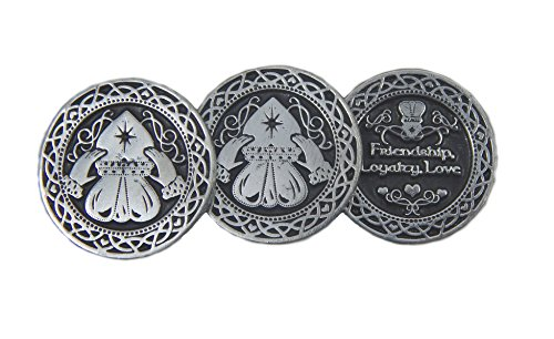 CA Irish Novelty Token Claddagh 3 Coins/St Patrick's Day/Celtic Gift