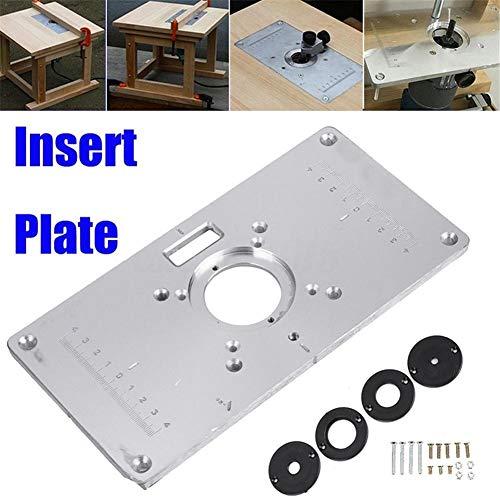 rosemaryrose frästisch Aluminium Platte einlegeplatte oberfräse -235mm x 120mm x 8mm Holzbearbeitung Router-Tischplatte einfügen
