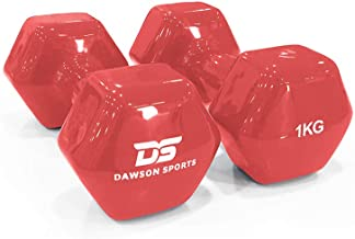 DAWSON SPORTS Unisex Adult 12247 Vinyl Dumbbell - 1kg (12247) - Red, 1kg