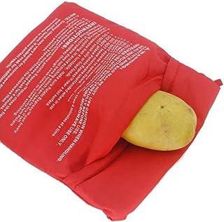 buycheapDG(JP) 電子レンジポテトバッグ 洗濯可能 電子レンジ調理バッグ 再利用可能 キッチンアクセサリー ベイクドポテトクッカー 焼きとうもろこし 1個 ポーチ クッキングポーチ