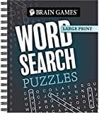 Brain Games - Large Print: Word Search Puzzles (Dark Gray)