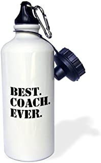 """3dRose Wb_151483_1\""""Best Coach Ever-Gifts For Sports Coaches-Life Coaches-Or Other Types Of Coaches-Black Text\"""" Sports Wa..."""