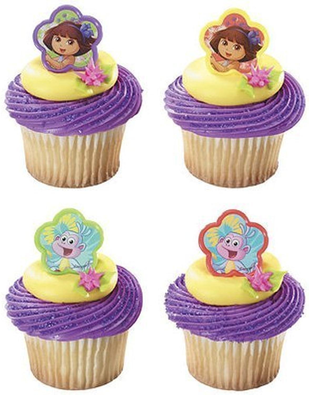 DecoPac Dora Springtime Friends Cupcake Rings Party Supplies, 12 Piece
