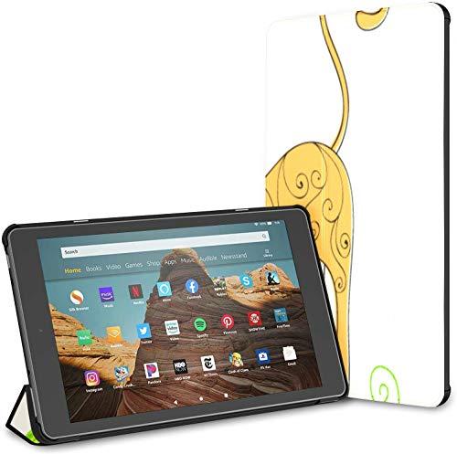 Fall für niedliches Katzenspiel gestricktes Garn Ball Fire HD 10 Tablet (9./7. Generation, Release 2019/2017) Fire HD Fall 10 Fall für Feuer HD 10 Tablet Auto Wake/Sleep für 10,1-Zoll-Tablet