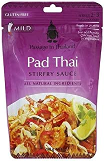 Passage to Thailand Pad Thai Stir-Fry Sauce, 7 oz, (Pack of 6)