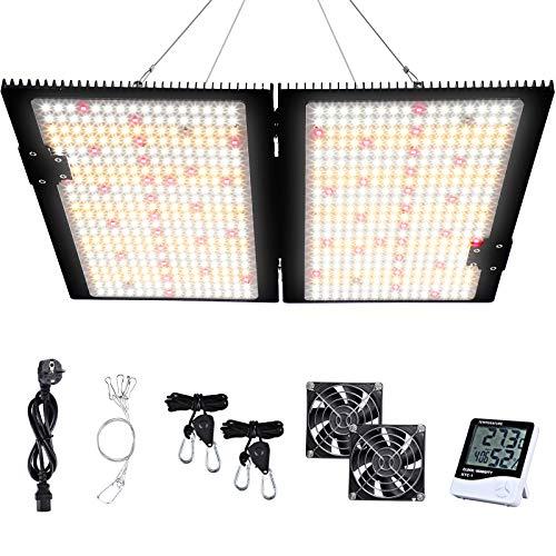 WAKYME 2000W Wachstumslampe LED LED-Panel Wachstumslichter für Hydroponik-Zimmerpflanzen Gemüse und Blumen mit hocheffizientem dimmbarem Mittelbrunnen-Treiber