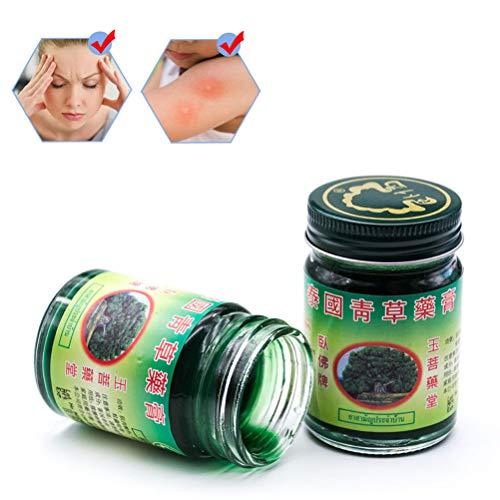 Haplws 50g Thai Massage Balsam Grüne Kräutersalbe Massage Muskelgelenke Verstauchungsschmerzen Balsam Anti-Moskito Antipruritische Creme