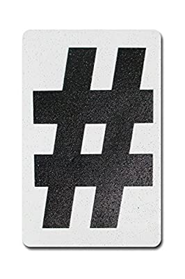 Individual Peel & Stick, Reflective Aluminum Numbers/ Letters, 4 inch