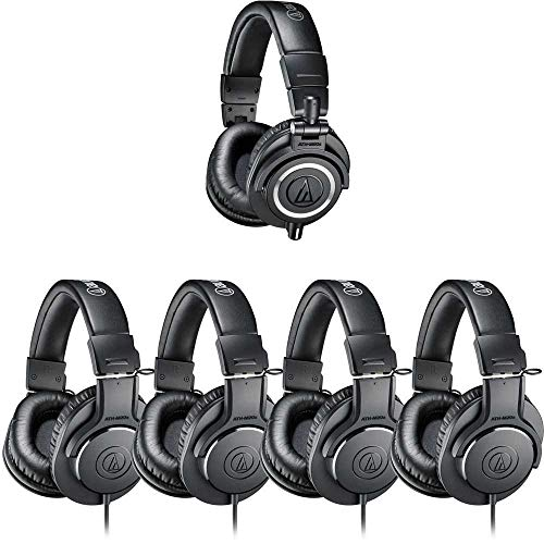 Audio Technica ATH-PACK5 Studio headphone pack includes 1 pair of ATH-M50x and 4 pairs of ATH-M20x headphones